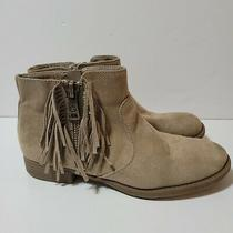 G by Guess Ankle Boots Booties Womens Size 8m Zip With Fringe  Photo