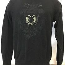 G by Guess  Black Green Crew Neck Embroidered Snake Crest Men's Sweater Sz 2xl Photo
