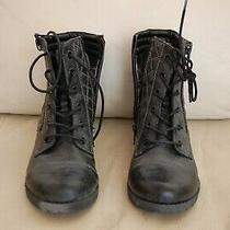 G by Guess Black Zip Lace Combat Fashion Boots Womens Size 7 M (Nbw) Photo