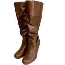 G by Guess Brown Women Knee High Boot  With 3 Inch Heel. Size 8m Photo