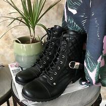 G by Guess Byson Black Quilted Boots Size 7.5 Photo