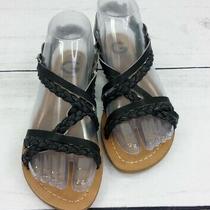 G by Guess Chiri Black Slingback Sandal Glitter Bohemian Braided Size 6 M Womens Photo