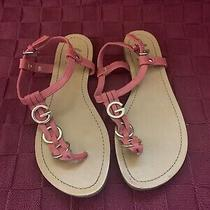 G by Guess Coral T Strap Sandals Women Size 8 Photo