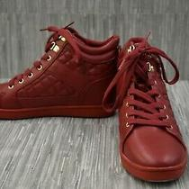 G by Guess Dayna Wedge Comfort Sneakers - Women's Size 9.5m Red Photo