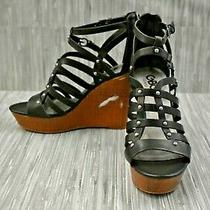 G by Guess Dezzie Strappy Wedge Sandal Women's Size 8.5m Black Photo