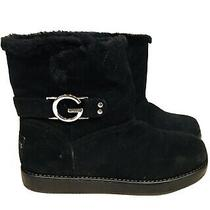 G by Guess Faux Fur Boots Women's Size 6 Black New With Tags Photo