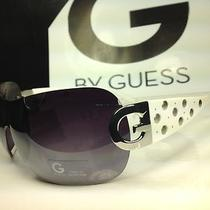G by Guess Ggu 1060 Wht-35f  - Women's White Frame Shield Sunglasses -