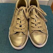 G by Guess Gold Reptile Print Metallic Sneakers Size 10 Photo