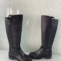 G by Guess Haydin Black Faux Leather Side Zip Knee High Boots Womens Size 6.5 M Photo