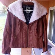 G by Guess Ladie's Brown Bomber Jacket Medium Photo