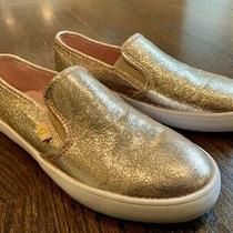 G by Guess Malden 7 Glitter Slip on Sneakers Women's Size 8.5 Rose Gold Photo