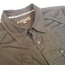 G by Guess Men Casual Shirt Short Sleeve Black Size M Photo