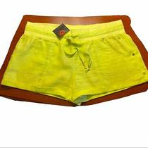 G by Guess Neon Yellow Linen Shorts Xl Nwt Photo