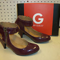 G by Guess New Womens Gilana Dark Red Synthetic Heels Shoes Mary Janes 6 M Photo