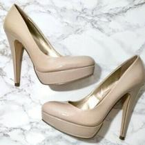 G by Guess Nude Heels Platform Heels Women Size 8.5 Great Condition Photo