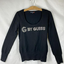 G by Guess Pullover Sweater Jr Juniors Girls Size Xl Black Rhinestone Photo