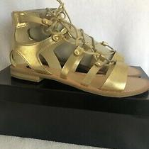 G by Guess Sandals Gladitor Gold Size 8 Photo
