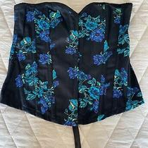 G by Guess Sexy Floral Corset Top Size S Photo