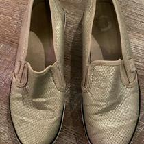 G by Guess Slip on Sneakers - Silver Manmade Leather - Size 5.5 Photo