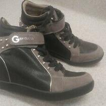 G by Guess Sneaker Size 9m Black Popstar Hidden Wedge High Top Photo
