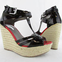 G by Guess Talloys Black/red Wedge Sandal Wmns Sz 8.5m New Photo