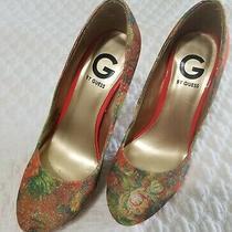 G by Guess Women Heels Sz 7m Ggwinna2 Floral Design Multicolor  Photo