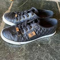 G by Guess Women's Backer2 Lace Up Quilted Sneakers Shoes Size 9 Black Photo