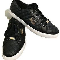 G by Guess Women's Black and Gold Quilted Sneakers Size  11 Photo
