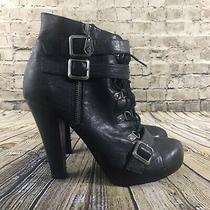 G by Guess Womens Black Size 9m Heel Shoe Boots Photo