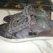 G by Guess Women's Satin Gray Sneakers Shoes Size 9.5m Photo