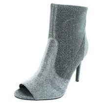 G by Guess Womens Bex Silver Metallic Booties Heels 7.5 Medium (Bm) Bhfo 4406 Photo
