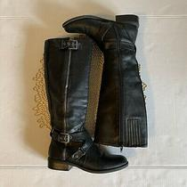 G by Guess Womens Black Knee-High Boots Shoes 6 Photo