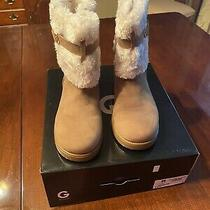 G by Guess Womens Closed Toe Ankle Cold Weather Boots Tan Size 8.5 Photo