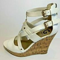 G by Guess Womens Dodge White Wedges Sandals Platforms Size 9.5 Photo