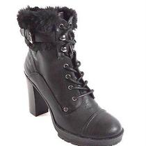 G by Guess Womens Golda Lug-Sole Booties Black 7.5m Photo