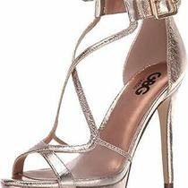 G by Guess Womens Javit Open Toe Casual Ankle Strap Clear Rose/gold Size 6.5 Photo