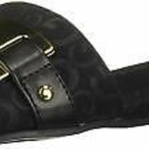 G by Guess Womens Jeena2 Open Toe Casual Black/black Shining/black Size 7.5 Photo