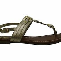 G by Guess Womens Links Open Toe Casual Slingback Sandals Gold 2 Size 9.0 Photo