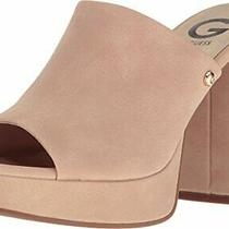 G by Guess Womens Nubuck Peep Toe Special Occasion Mule Sandals Pink Size 6.5 Photo