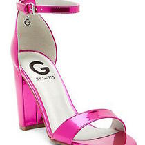 G by Guess Womens Shantel 3 Open Toe Special Occasion Ankle Pink Size 9.0 F1mo Photo