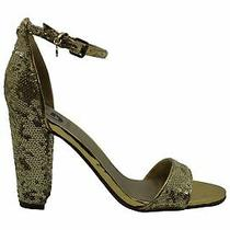 G by Guess Womens Shantel11 Open Toe Ankle Strap D-Orsay Pumps Gold Size 7.0 Photo