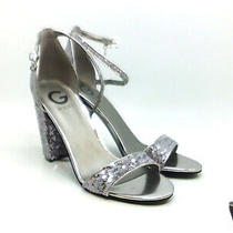 G by Guess Womens Shantel11 Open Toe Ankle Strap D-Orsay Pumps Silver Size 8.5 Photo