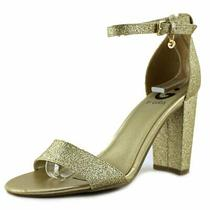 G by Guess Womens Shantel3 Open Toe Special Occasion Ankle Strap Gold Size 5.0 Photo