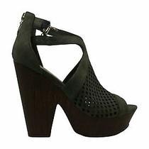 G by Guess Womens Shelli Peep Toe Ankle Strap Platform Pumps Black Size 7.5 Photo