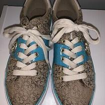 G by Guess Womens Sneakers Size 7. Tan & Turquoise. New With Tag Photo