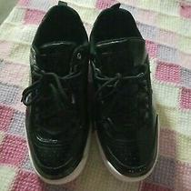 G by Guess Womens Wyatt Low Top Lace Up Fashion Sneakers Black Size 8m Photo