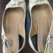 g.h.bass Women's Christy Size 7.5 M Beige Wedge Slingback Shoe Sp16 Photo