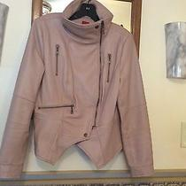 g.i.l.i. Gili Leather Motorcycle Jacket Blush Size 12 Lamb Skin Qvc Photo