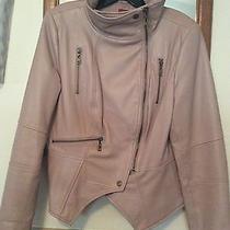 g.i.l.i. Gili Leather Motorcycle Jacket Blush Size 12 Lamb Skin Qvc Photo
