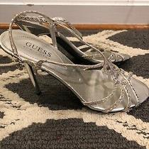 G Silver Dangle Guess by Marciano Slingbacks Stilettos High Heels Sz 7 S2m15 Photo